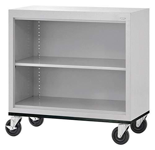 - 36' x 18' x 36' Elite Series Mobile Bookcase with 2 Shelves, Dove Gray