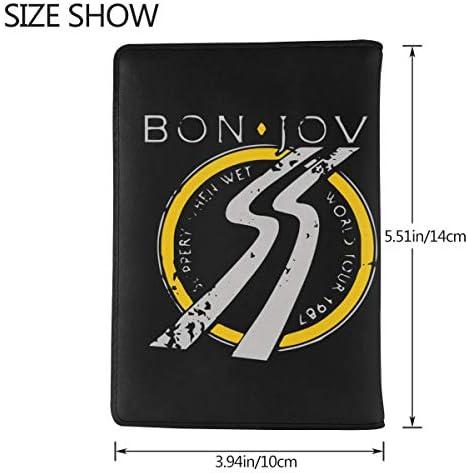 Bon Jovi ボン・ジョヴィ パスポートケース メンズ 男女兼用 パスポートカバー パスポート用カバー パスポートバッグ 小型 携帯便利 シンプル ポーチ 5.5インチ高級PUレザー 家族 国内海外旅行用品