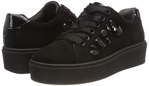 056 black Derby black Zapatos Mujer Para 23702 Negro De Cordones Tamaris 8Iqvanw