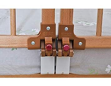 Barrera Cama Barandilla Cama Rieles de Cama de beb/é Extra Largos de Madera Blanco Color : 0-3cm Mattress, Tama/ño : Length 88.5cm Protector de Cama de Seguridad para ni/ños ni/ña ni/ño