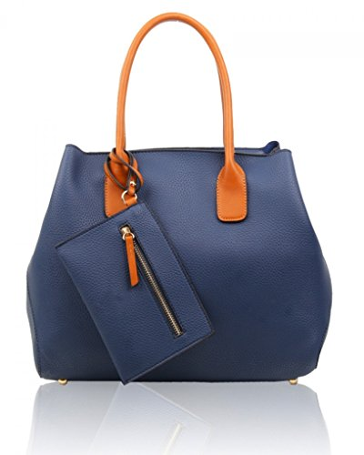 A4 Fashion CW112 Soft A4 Oxford Clearance Set Blue Purse Tote Toe 1 Sale 3 LeahWard Bag Ladies Handbag College Bag Cross in Folder Body School Women's awRnTxfI7