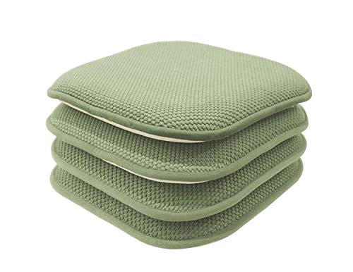 GoodGram 4 Pack Non Slip Honeycomb Premium Comfort Memory Foam Chair Pads/Cushions - Assorted Colors ()