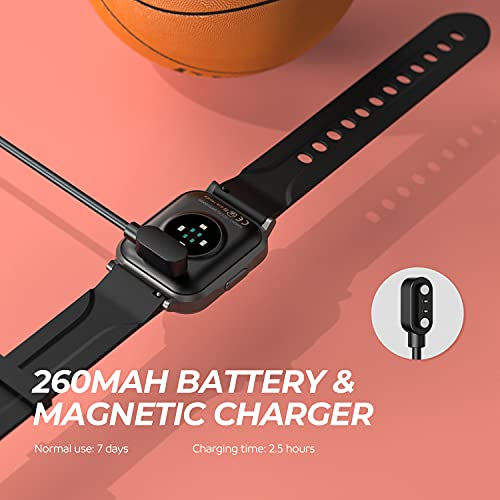 SoundPEATS Smart Watch Fitness Tracker with All Day Heart Rate Monitor Sleep Quality Tracker Call & Message Alert Swimming Waterproof Sports Watch Compatible with iPhone Android Phones