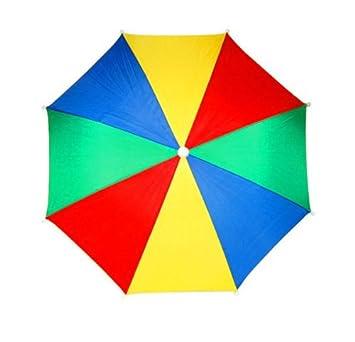Nuevo sombrero paraguas de Golf paraguas pesca flashsellerz caza cabeza gracioso multicolor