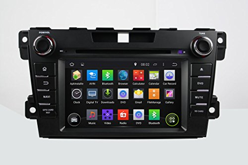 KUNFINE Android 6.0 Otca Core Car DVD GPS Navigation Multimedia Player Car Stereo For MAZDA CX-7 2006 2007 2008 2009 2010 2011 2012 2013 Steering Wheel Control 3G Wifi Bluetooth Free Map Update 7 Inch