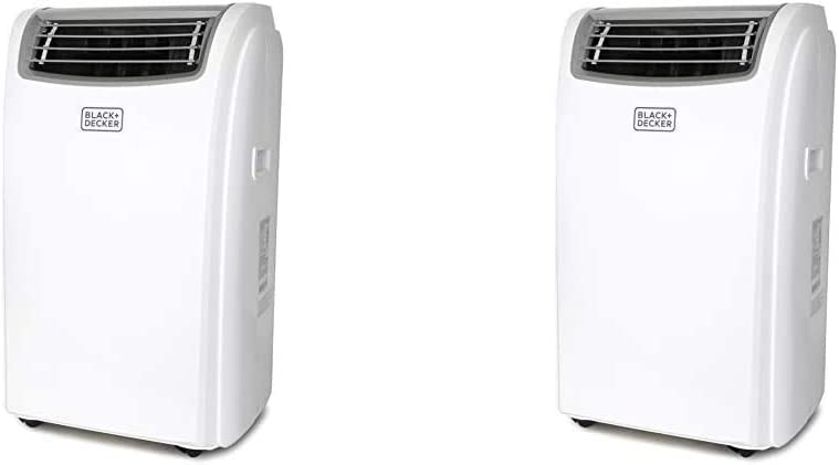 Black + Decker BPACT12HWT Portable Air Conditioner, 12,000 BTU with Heat, White & BPACT14HWT Portable Air Conditioner, 14,000 BTU w Heat, White