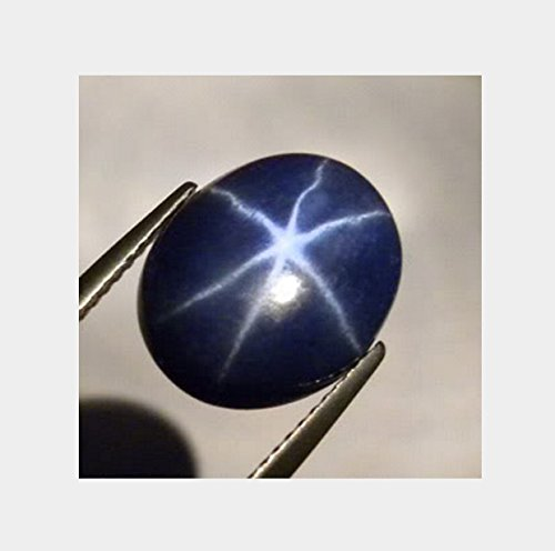 9x7 mm. Oval Cabochon Star Deep Blue Sapphire Unset Loose Gem