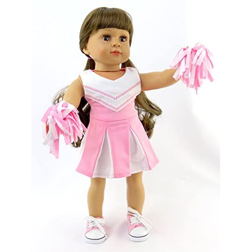 259364e8c07 low-cost Pink and White Doll Cheerleader Outfit - Outfit includes ...