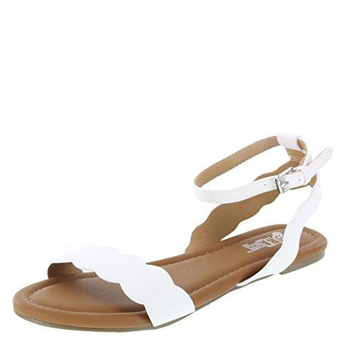 6602622f1bc Brash White Women s Whitley Flat Sandal 8.5 Regular
