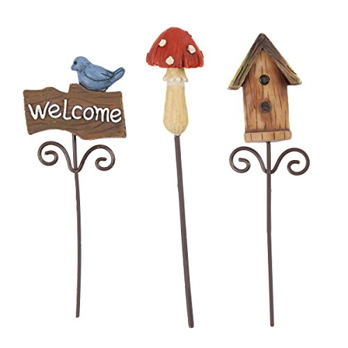 (Darice Fairy Mini Pick Garden Supplies, 3 Piece)