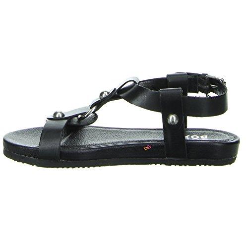 Bullboxer Sandale mit Metallapplikationen in schwarz Schwarz
