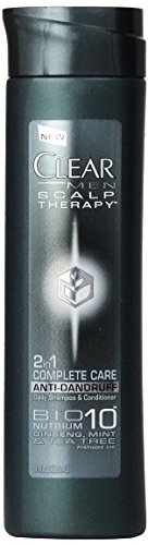 Clear Men Scalp Therapy 2-in-1 Complete Care Anti-dandruff Shampoo & Conditioner, 3 Oz (Pack of 8)