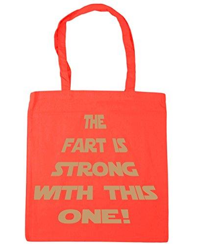 HippoWarehouse la Fart es fuerte con este una bolsa de la compra bolsa de playa 42cm x38cm, 10litros Coral