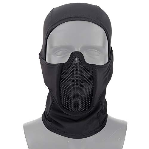 DETECH Tactique Vêtement Respirant Balaclava Maille Masque Visage Complet Airsoft CS Masque Chasse À Vélo Capuche Cache… 2