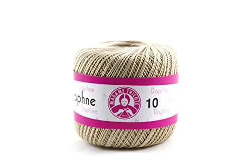 Avanti Daphne Knitting Thread 100% Cotton, 50 grams, 308 yards, 10/3 of thickness Needles use 1.25-1.50 (Light Brown)