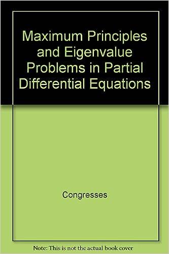 Maximum principles and eigenvalue problems in partial