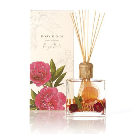 Rosy Rings Botanical Reed Diffuser 13 Oz. Peony & Pomelo by Rosy Rings