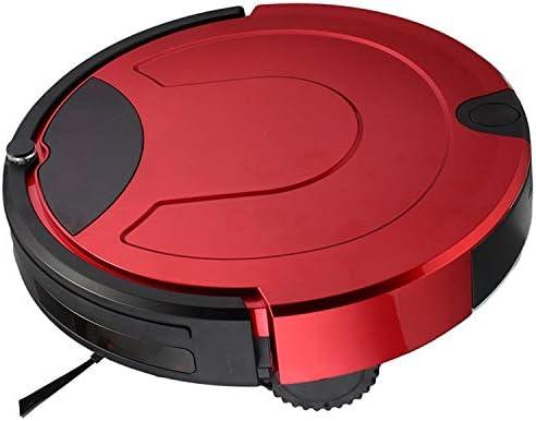 G-RF Aspirateur Robot TC-650 Intelligent Aspirateur Écran Tactile Ménage Balayer Nettoyage Robot avec télécommande (Noir) (Color : Gold) Red
