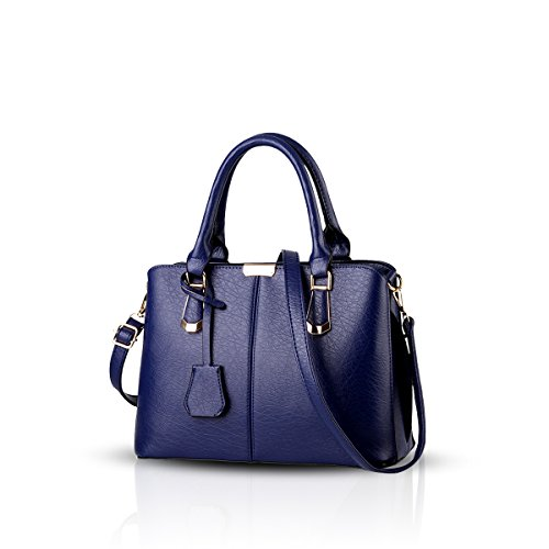 Nicole&Doris new European trend of minimalist style handbag casual shoulder bag cross-body work bag(Black) Sapphire