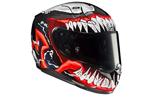 HJC Unisex-Adult Full Face) (RPHA-11 PRO Venom 2 (Black/Red/White, X-Large)