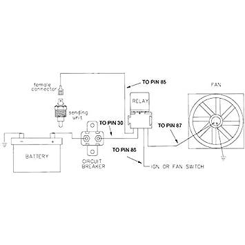 1//2 Inch, 140F On - 125F Off American Volt 140F-210F Electric Radiator Fan Thermostat Sensor Ground Switch NPT Inch Thread Kit