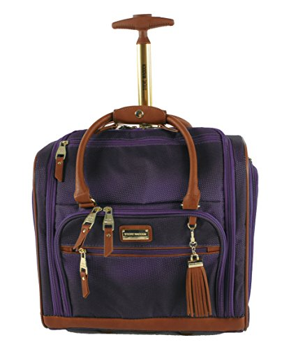 Steve Madden Luggage Wheeled Suitcase Under Seat Bag (Shadow Purple) (Best Lightweight Luggage Uk)
