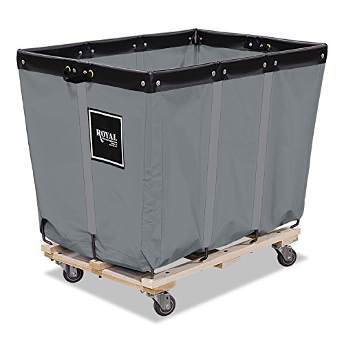 Royal Basket Trucks R16GGPMA3UN 16 Bushel Permanent Liner Truck, 28'' x 40'' x 36 1/2'', 600 lb. Capacity, Gray by Royal Basket Trucks