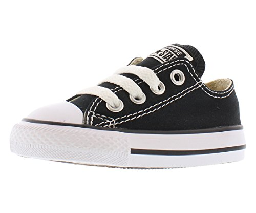 Converse Kids' Chuck Taylor All Star Canvas Low Top Sneaker Black 5 M US Toddler