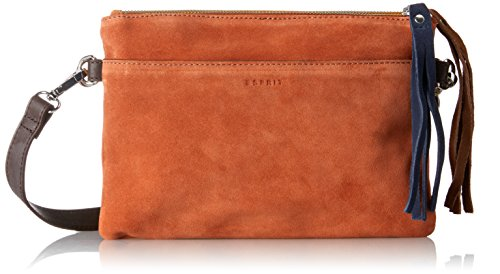 ESPRIT 087ea1o065 - Pochette da giorno Donna, Orange (Burnt Orange), 1x18x25 cm (B x H T)