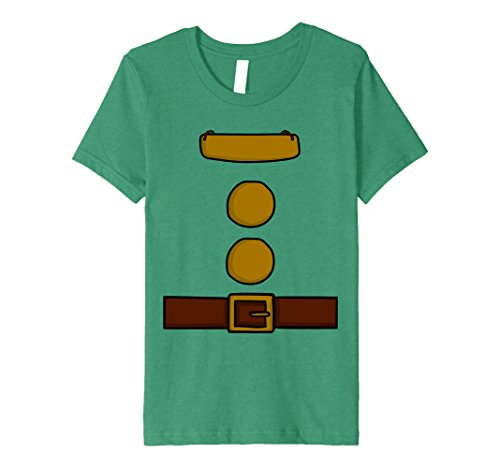 4 Group Halloween Costume Ideas (Kids Dwarf Halloween Group Costume Idea T-Shirt with name plaque 4 Kelly Green)