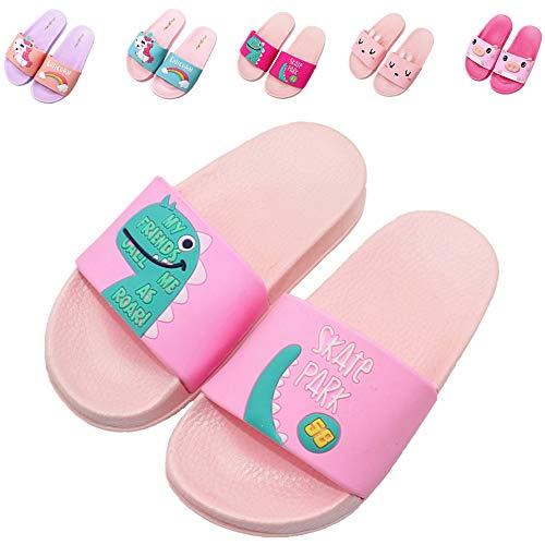 Kids Unicorn Summer Slides Sandals Non-Slip Lightweight Boys Girls Beach Water Shoes Pool Bath Slippers (Toddler/Little Kid) (10.5 Little Kid,...