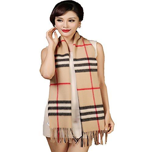 Amazon Lightning Deal 81% claimed: Ysiop Women Winter Australian Wool Cozy Tartan Warm Scarf and Wraps