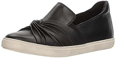 ROCKPORT Cobb Hill Women's Willa Bow Slipon Sneaker, Black Leather, 5 M US