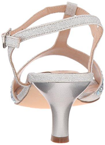 Silver slv Sandalias 05 Audrey Pleaser Plateado Mujer Shimmering Fabric wzqXSaZ
