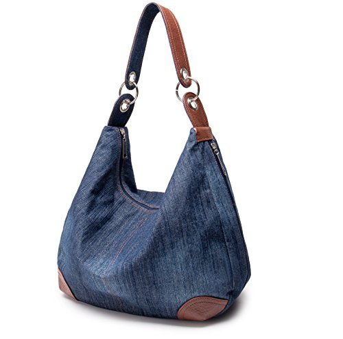 Dreams Mall(TM)Women's Jeans Handbags Hobos Totes Shoulder (Denim Purse Blue Jean)