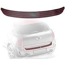 Casking Rear Bumper Trunk Load Edge Anti-Scratc Guand Trim Rubber Strip for MINI Cooper Countryman R60 (Red)