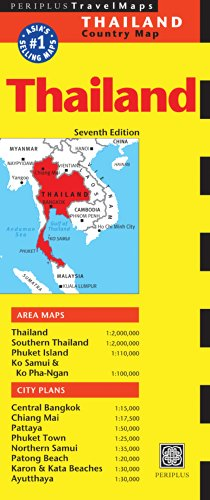Thailand Travel Map Seventh Edition (Periplus Travel Maps)...