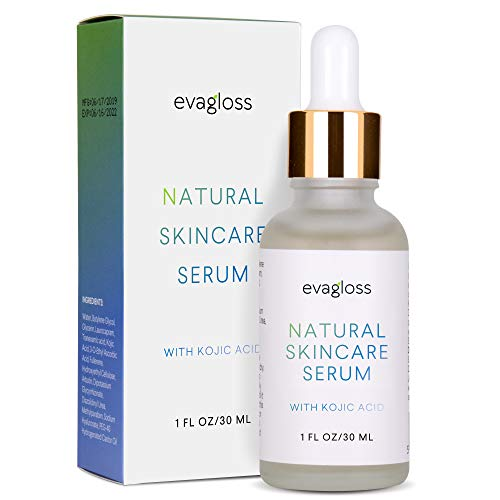 Evagloss Dark Spot Corrector Serum with Kojic Acid and Natural Ingredients for Face & Body, All Skin Types