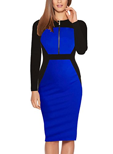 Drape Neck Sheath Dress - 9
