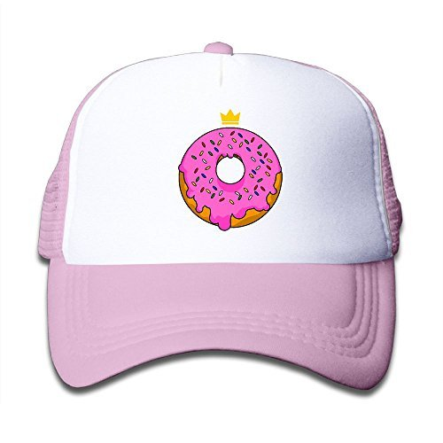 Elephant AN Pink Doughnut Mesh Baseball Cap Kid Boys Girls Adjustable Golf Trucker Hat ()