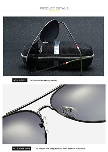 para Protección Sol Polarizadas UV Hombre Mujer Gafas C2 400 De Aviator C4 para TIqwWf4R