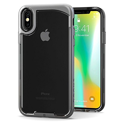 Snugg iPhone XS (2018) / iPhone X (2017) Case, [Vision Series ] Apple iPhone XS / iPhone X Case Clear Ultra Thin Lightweight Protective Bumper Cover for iPhone XS / iPhone X - Grey