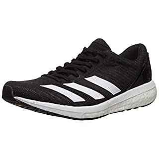 adidas Women's Adizero Boston 8 Running Shoe, Black/White/Black, 10.5 M US