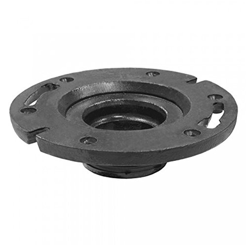 Jones Stephens Corporation C47440 Two Finger Flange, 4'' x 4'', Small, Black by Jones Stephens Corporation