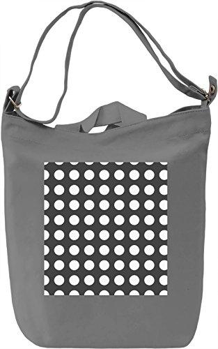 White Bubbles Print Borsa Giornaliera Canvas Canvas Day Bag| 100% Premium Cotton Canvas| DTG Printing|