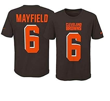 259b93392 Baker Mayfield Cleveland Browns  6 Youth Boys Name   Number Player T-Shirt (