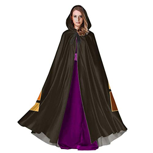 Color Game Three-Dimensional Block Russian Tetris Hooded Cloak for Men Mens Hooded Cloak 59inch for Christmas Halloween Cosplay Costumes