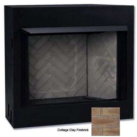 Monessen Cottage Clay Firebrick (Monessen Mcuf36e-f Magnum Series 36-inch Radiant Face Circulating Vent-free Firebox With Cottage Clay Firebrick)