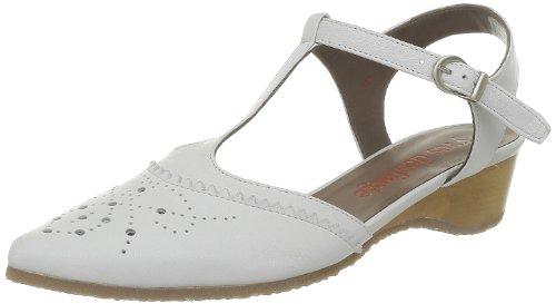 Yves Desfarge, Damen Sandalen Weiß - Blanc (Velvet Blanc)