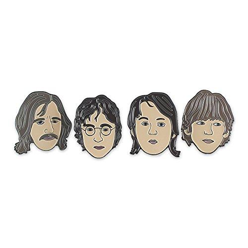Wizard Pins John Lennon, Paul McCartney, George Harrison & Ringo Starr Celebrity Enamel Lapel Pin Set (Beatle Pins)